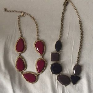 Pink Purple and Gold Chunky Necklace NEVER WORN